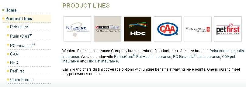 Western Pet Insurance Product Line