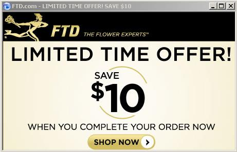 FTD 10 limited time offer