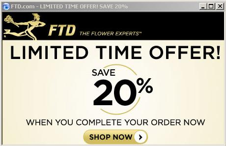 FTD 20 limited time offer