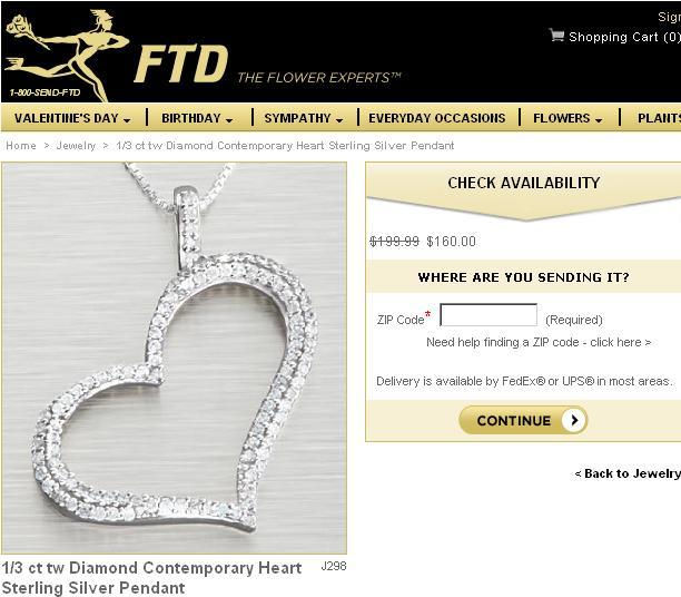 FTD Diamond Heart Main Site