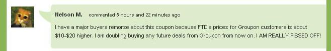 Groupon FTD Comments - 20 more - Chicago