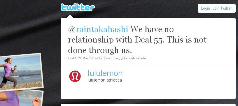 deal55 - twitter - lululemon