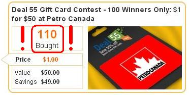 Deal55 - Petro Canada Contest Deal - Results