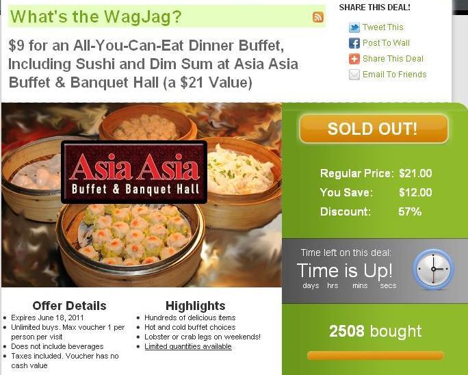 WagJag - Asia Asia Buffet Deal