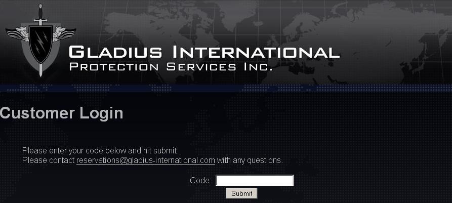 Gladius International - Customer Login