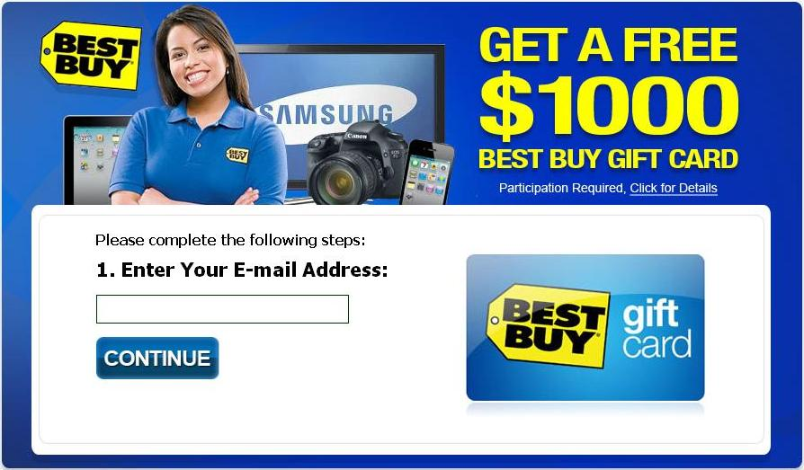Free 1000 Best Buy Gift Card Ad