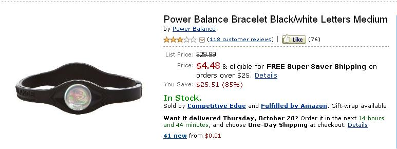 Power Balance Bracelet – Amazon